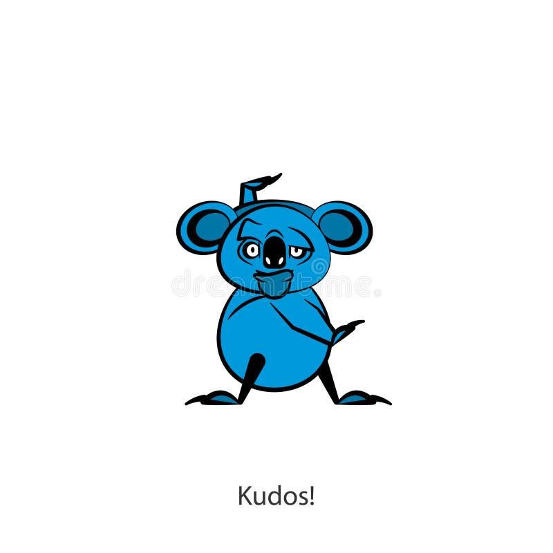 Color divertido de la koala stock de ilustración