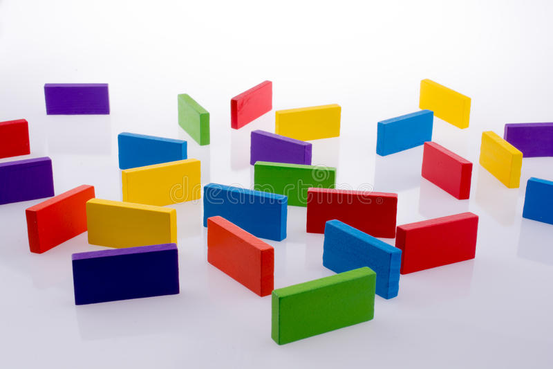 Color Dominoes. On a white background stock photography