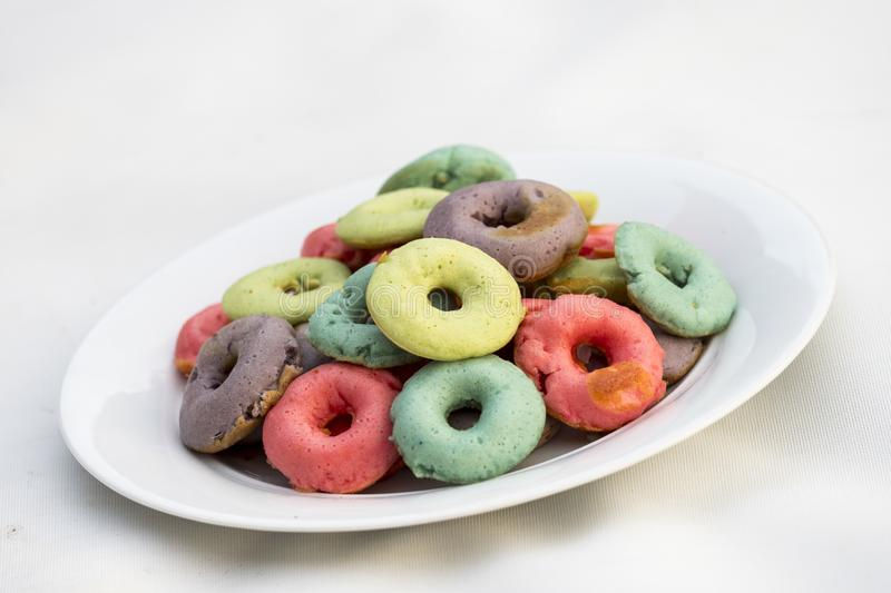 Color donuts royalty free stock image