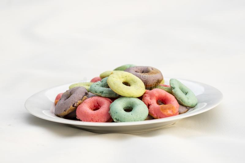 Color donuts royalty free stock photos