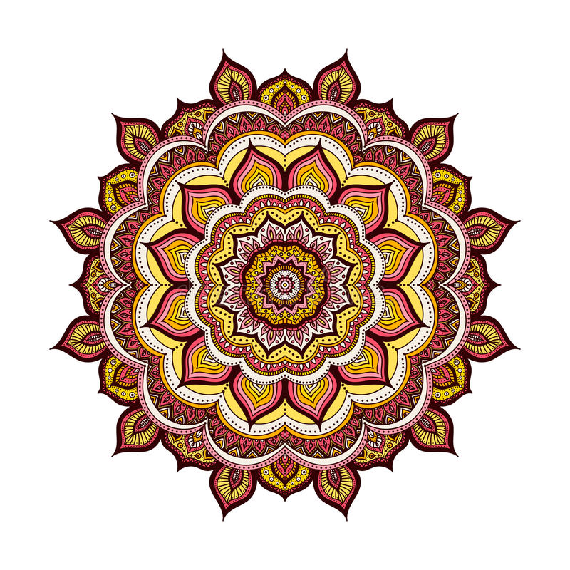 Color doodle mandala royalty free stock images