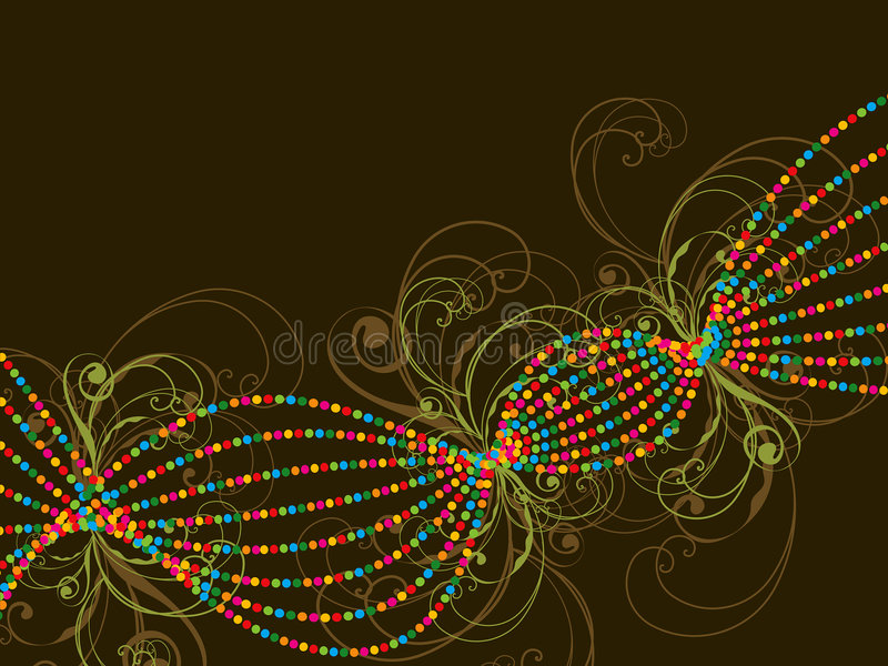 Color dotted lines and swirls royalty free stock photo