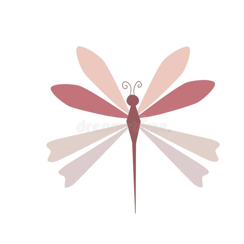 Color dragonfly-libélula. Concepto sencillo de una colorida libélula stock illustration