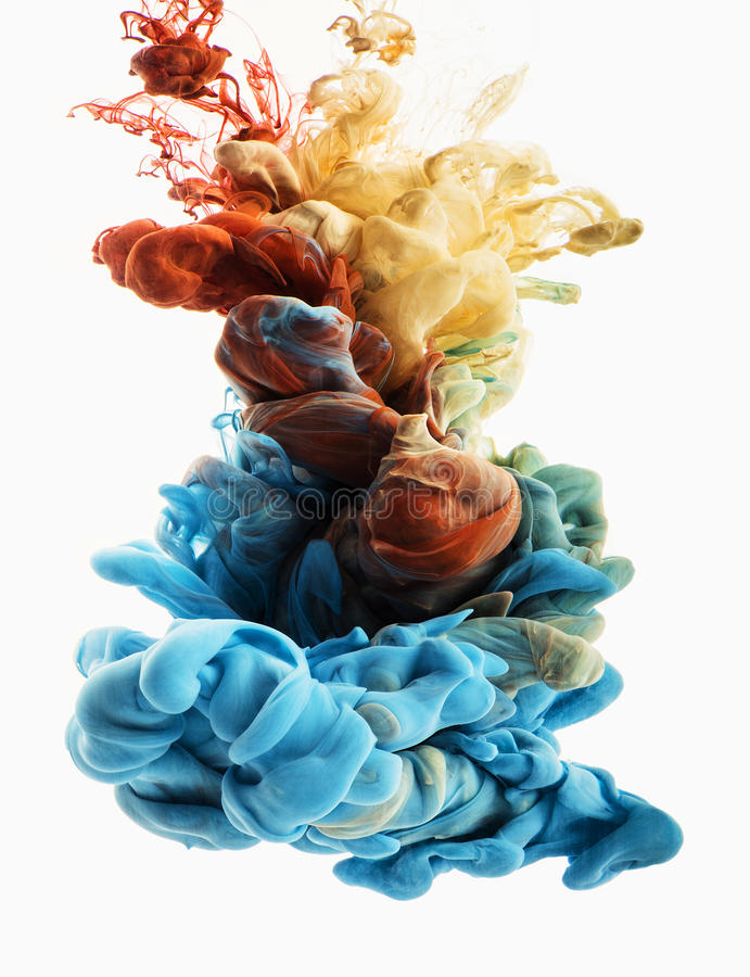 Color drop royalty free stock photo