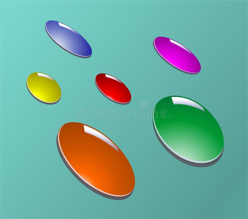 Color drops. Multicolored drops-elements for your design- will be additional. Vector illustration vector illustration