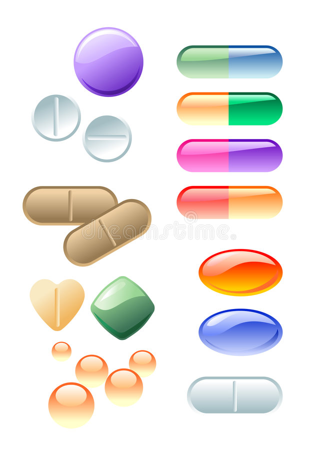 Color drugs royalty free illustration