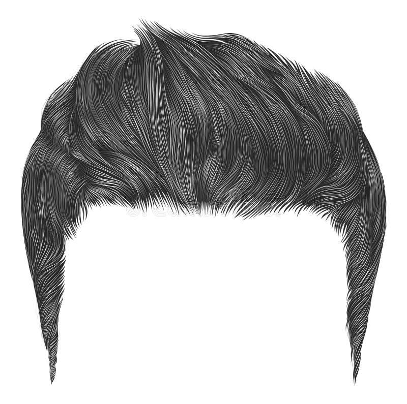 Color elegante de moda del gris de los pelos del hombre Estilo de la belleza el alto diseñar del pelo libre illustration
