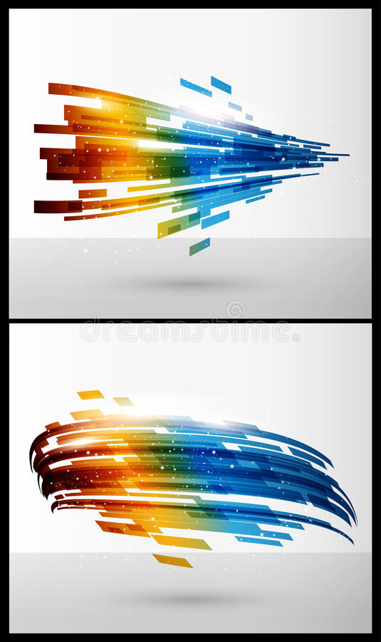 Color elements for abstract background stock illustration