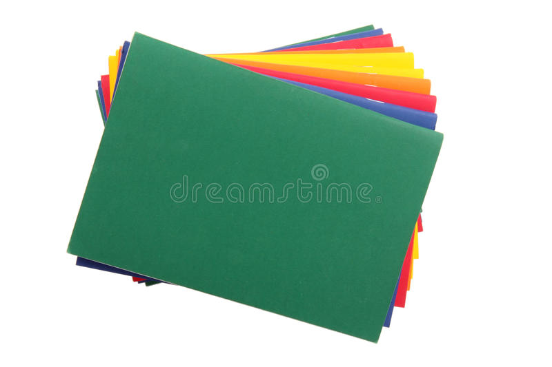 Color Exercise Books Stock Image