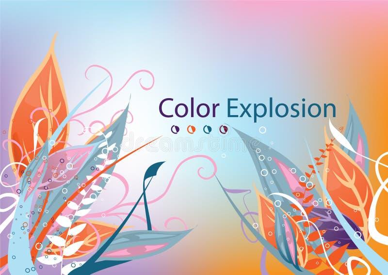 color explosionen stock illustrationer