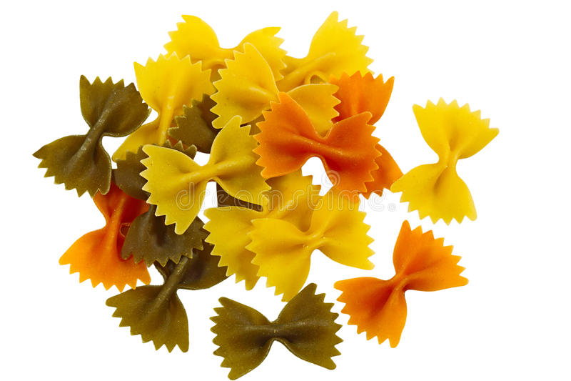 color farfalle tri arkivfoton