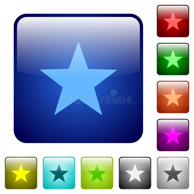 Color favorite glass buttons royalty free illustration