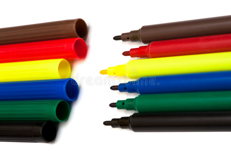 Download Color felt-tip pens stock image. Image of objects, tools - 7561747