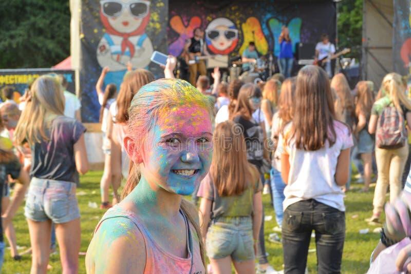 Color festival.Kazan. stock photos
