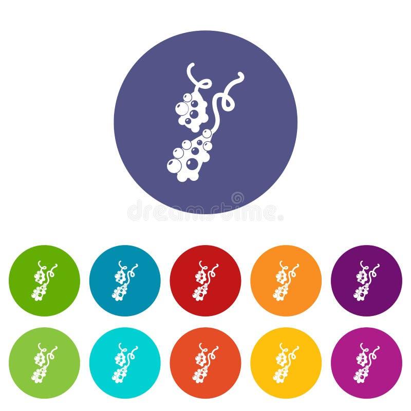 Color fijado iconos micro del vector del vibrión libre illustration