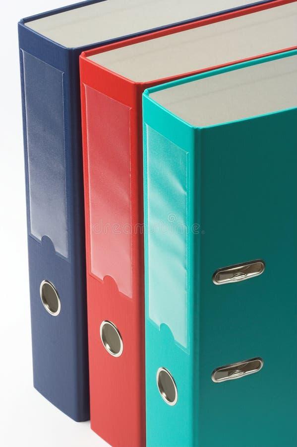 Color file folders stock image