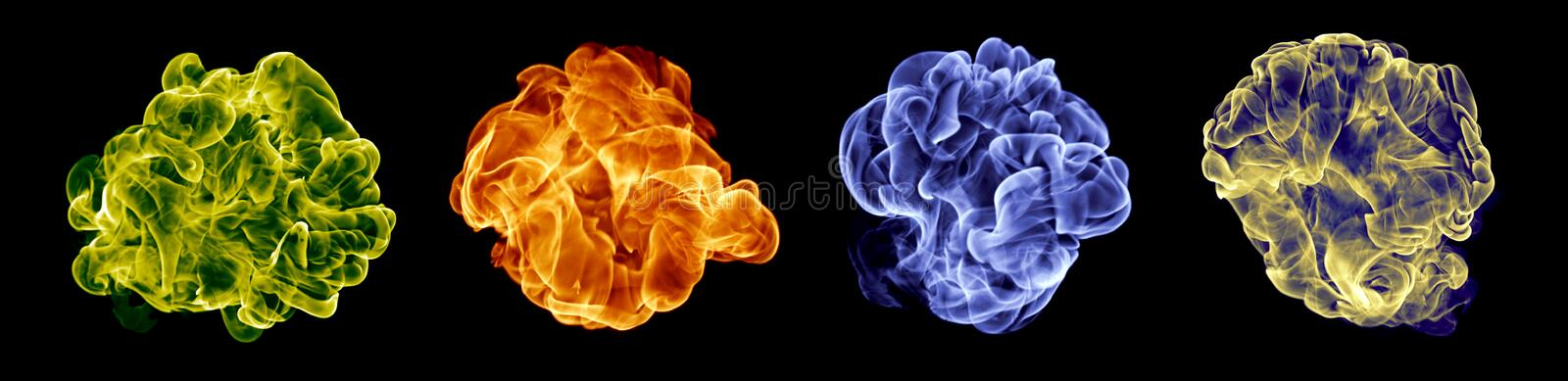 Color fire set royalty free stock photography