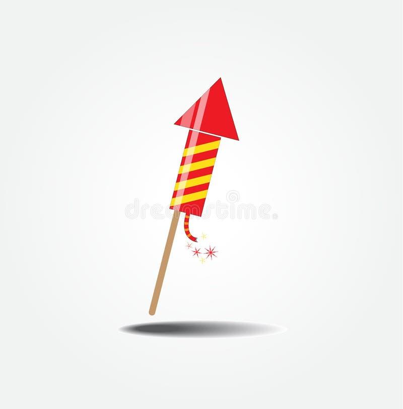 Color fireworks rocket royalty free illustration