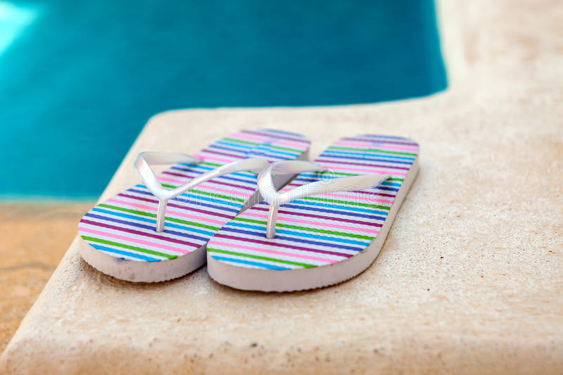 Color flip-flops royalty free stock images