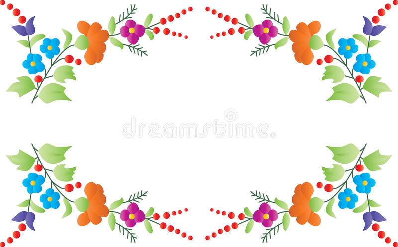 Color Floral Frame Royalty Free Stock Image