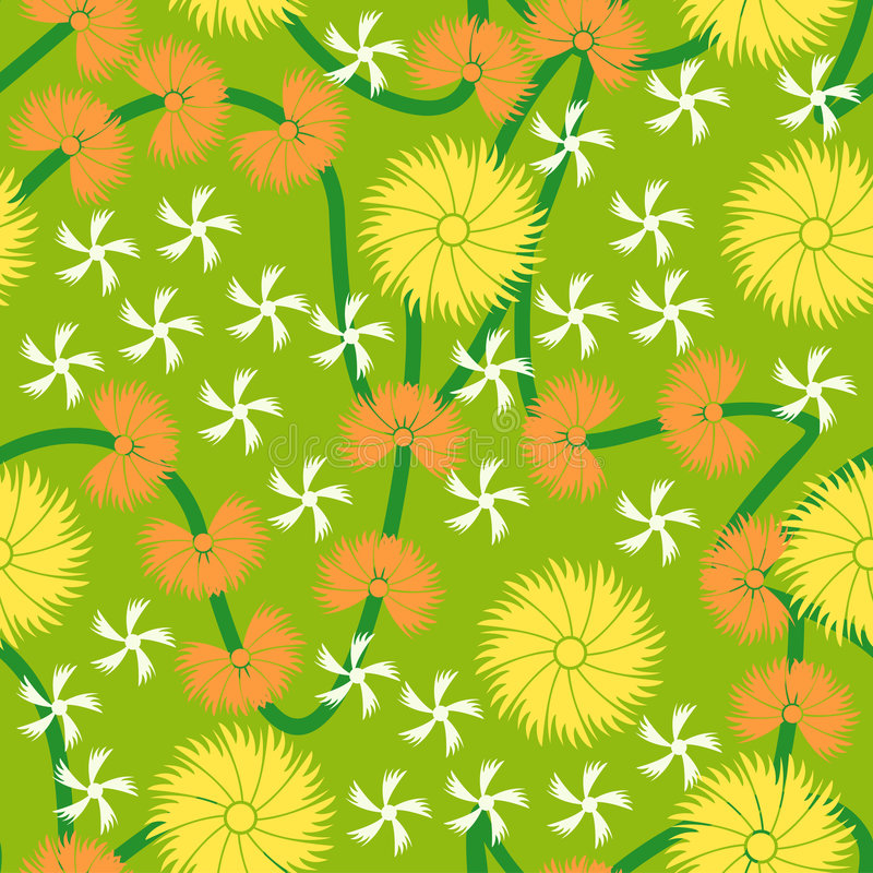 Color Floral seamless pattern background stock image