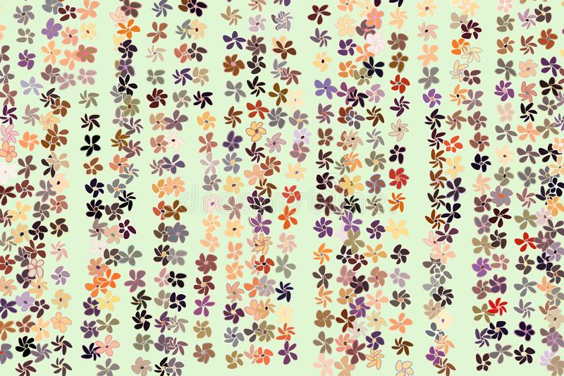 Color flower illustrations background, hand drawn. Graphic, vector, sketch & drawing. royalty free illustration