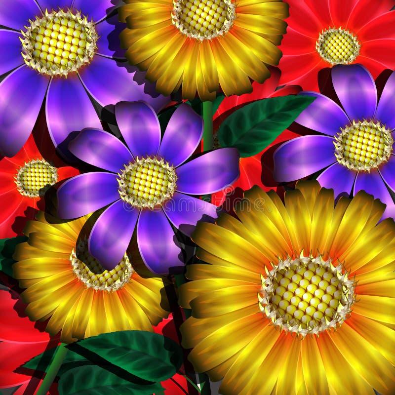 Download Color flowers stock vector. Image of summer, leaf, gift - 30740440