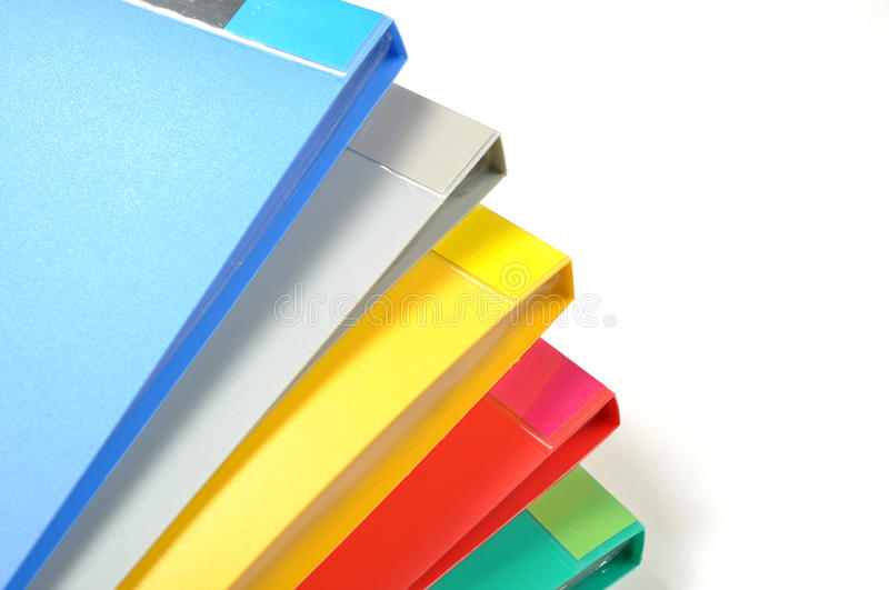 Color of folders. Isolated on white stock photo