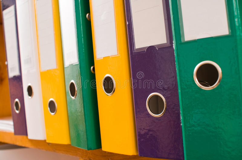 Color Folders Stores. Royalty Free Stock Photography