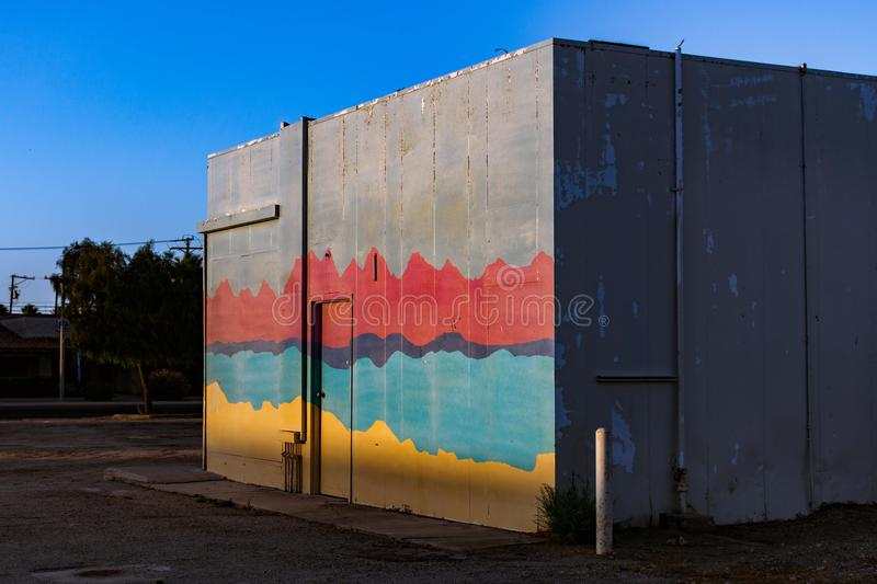 Color full side of the wall. royalty free stock images
