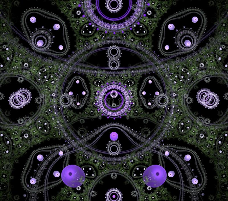 Color? g?om?trique futuriste de fractale psych?d?lique d'illustrations photo stock