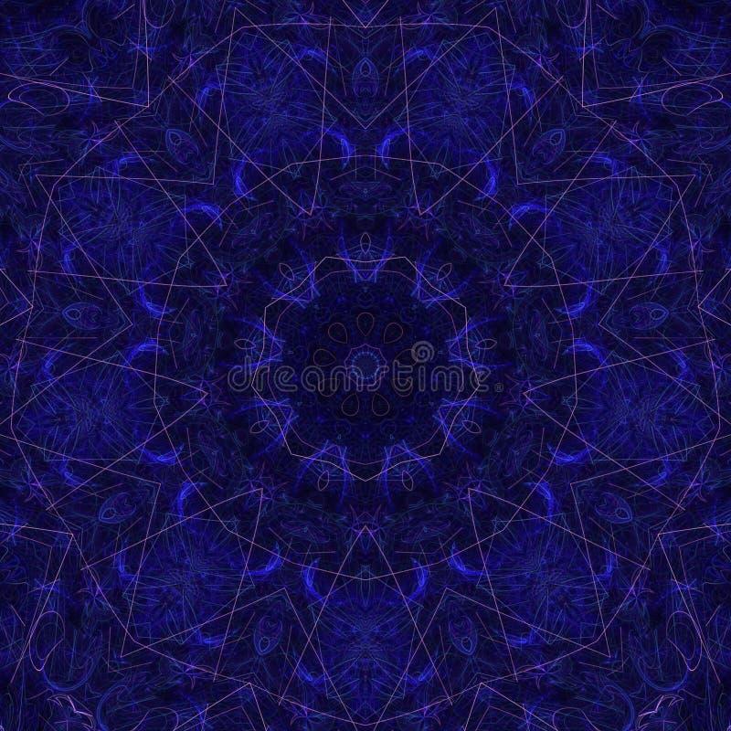 Color? g?om?trique futuriste de fractale psych?d?lique d'illustrations illustration libre de droits