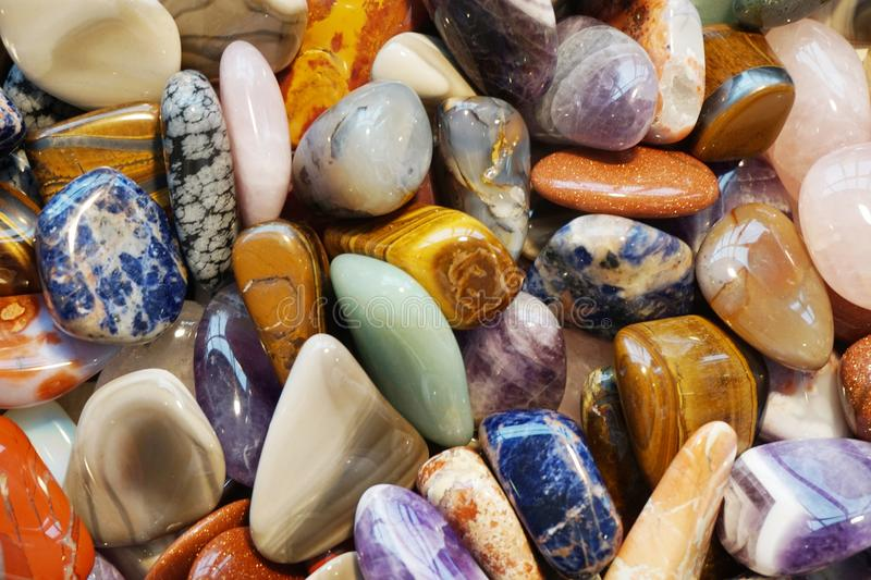 Color gems mineral collection. As nice natural background stock photo