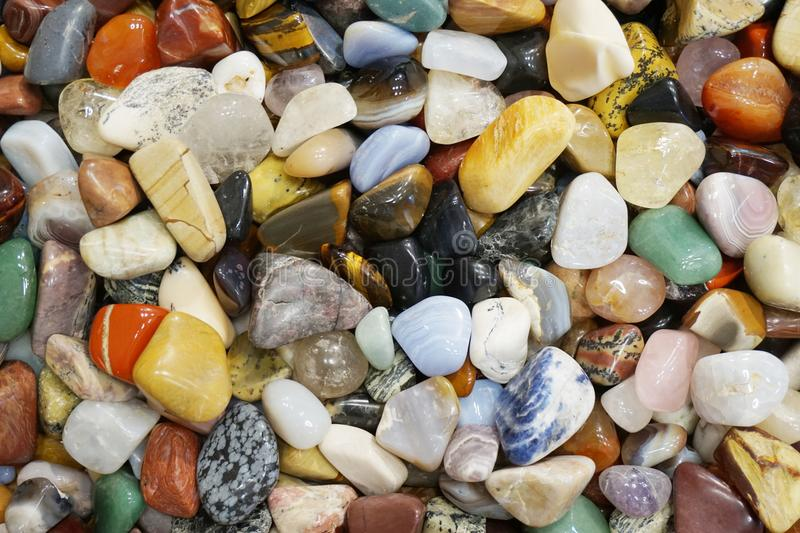 Color gems mineral collection. As nice natural background royalty free stock photos