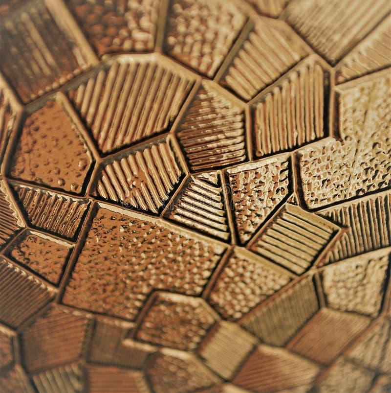 color geométrico del oro de la textura 3d Decoración abstracta fotografía de archivo