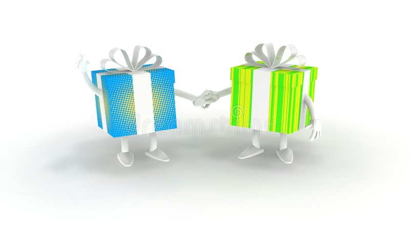 Download Color Gifts stock illustration. Image of presenting, wrappings - 7243141
