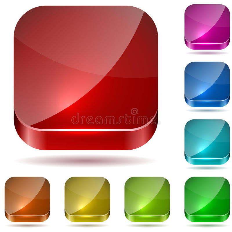 Color glass buttons royalty free illustration