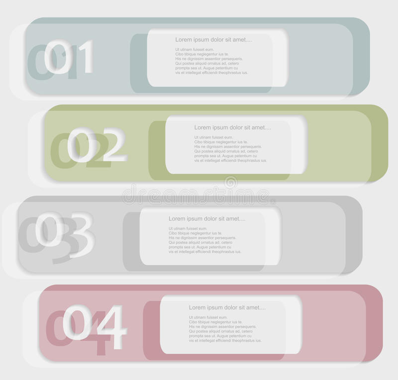 Color glass infographic stock illustration