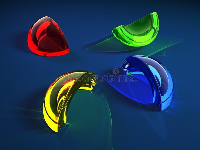 Color glass shard