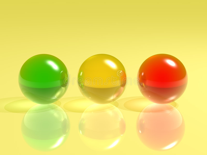 Color Glass Sphere Royalty Free Stock Photo