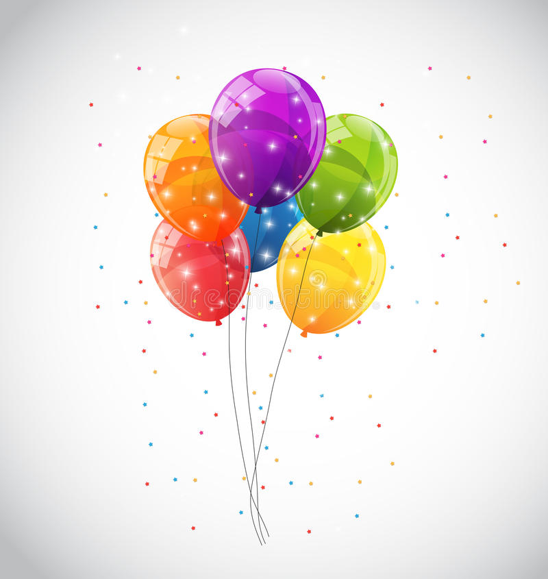 Color Glossy Balloons Background Vector Illustration. EPS10 royalty free illustration