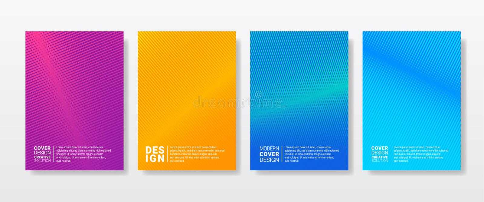 Color gradient abstract geometric pattern texture stock illustration