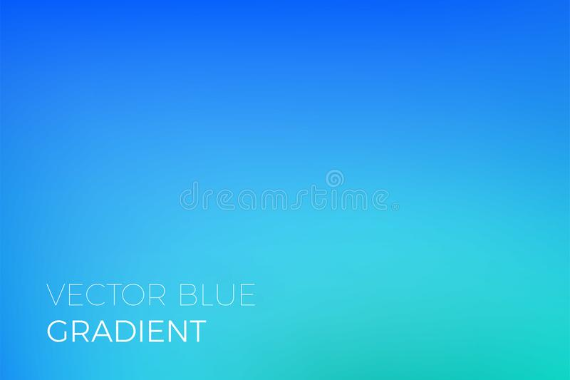 Color gradient background sky blue abstract soft blend trendy vector light effect. Color gradient background of blue. Abstract modern trendy vector soft color royalty free illustration