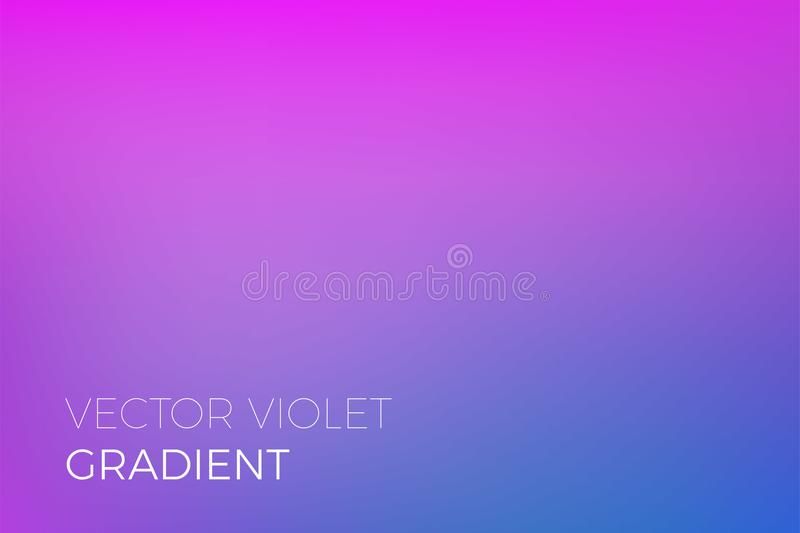 Color gradient background purple blue abstract soft blend trendy vector light effect. Color gradient background of purple and blue. Abstract modern trendy vector royalty free illustration