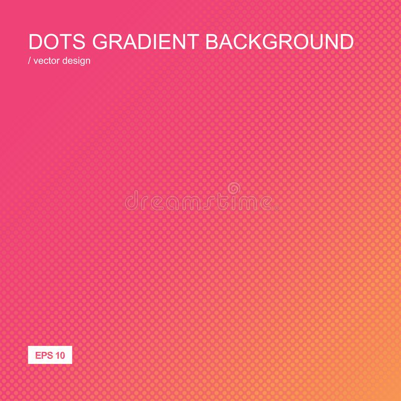 Color gradient halftone background. Dots texture. Color gradient halftone background. Dots textured pattern backdrop. Template for prints, covers, flyers royalty free illustration
