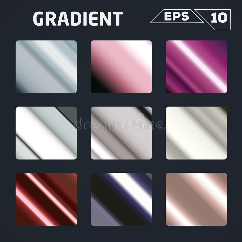 Color gradient set. Vector illustration stock illustration