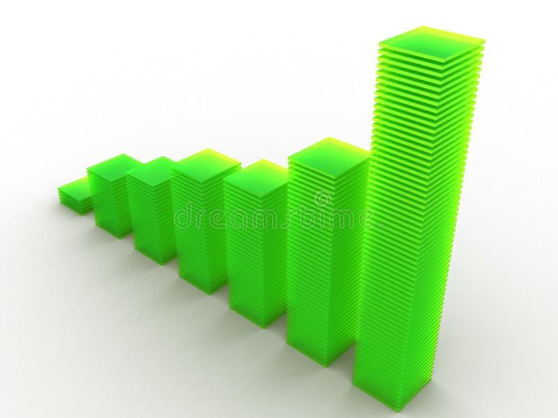 Color Graph royalty free stock photos