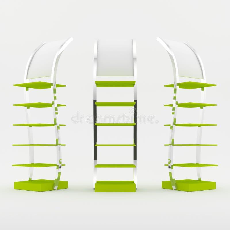 Download Color green shelf design stock illustration. Image of empty - 33019116