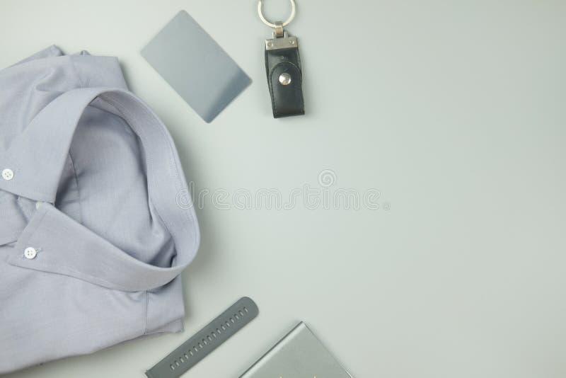 Color gris de la ropa gris del color y del art?culo electr?nico para el fondo foto de archivo libre de regalías