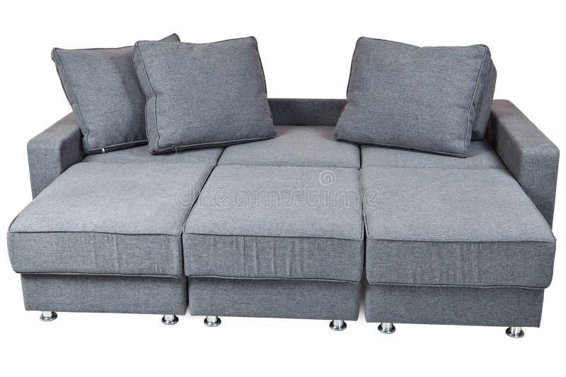 Color gris oscuro de la tela del futon convertible del for Sofa cama color gris